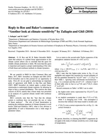 Reply to Roe and Baker's Comment on Anot... by Zaliapin, I.