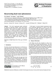 Resurrecting Dead-water Phenomenon : Vol... by Mercier, M. J.