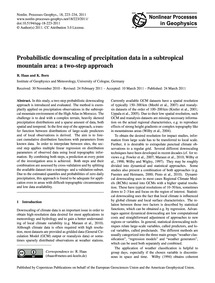 Probabilistic Downscaling of Precipitati... by Haas, R.