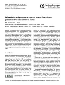 Effect of Thermal Pressure on Upward Pla... by Nekrasov, A. K.