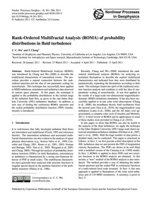 Rank-ordered Multifractal Analysis (Roma... by Wu, C. C.