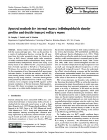 Spectral Methods for Internal Waves: Ind... by Dunphy, M.