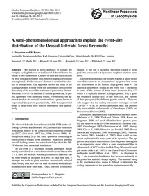 A Semi-phenomenological Approach to Expl... by Hergarten, S.
