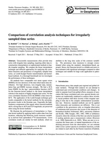 Comparison of Correlation Analysis Techn... by Rehfeld, K.