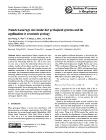 Number-average Size Model for Geological... by Wang, Q. F.