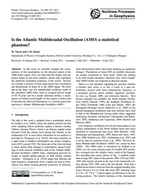 Is the Atlantic Multidecadal Oscillation... by Vincze, M.