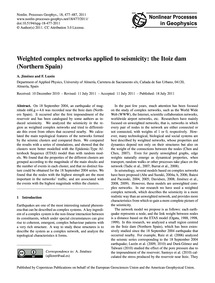 Weighted Complex Networks Applied to Sei... by Jiménez, A.