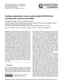 Nonlinear Optimization Set Pair Analysis... by Yang, X. H.