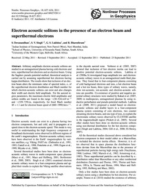 Electron Acoustic Solitons in the Presen... by Devanandhan, S.