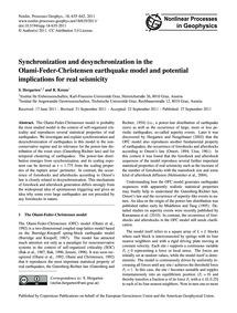 Synchronization and Desynchronization in... by Hergarten, S.