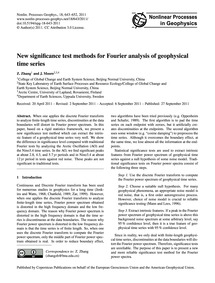 New Significance Test Methods for Fourie... by Zhang, Z.