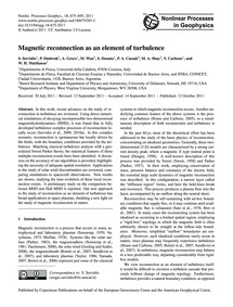 Magnetic Reconnection as an Element of T... by Servidio, S.