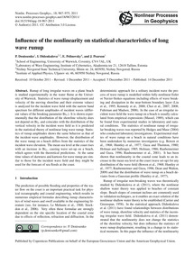Influence of the Nonlinearity on Statist... by Denissenko, P.