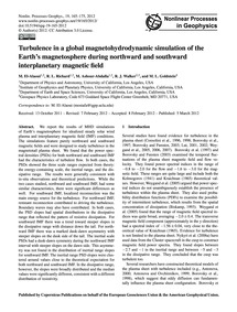 Turbulence in a Global Magnetohydrodynam... by El-alaoui, M.