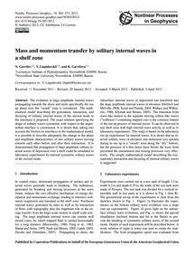 Mass and Momentum Transfer by Solitary I... by Gavrilov, N.