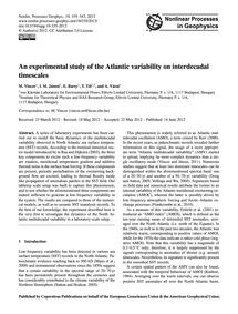 An Experimental Study of the Atlantic Va... by Vincze, M.