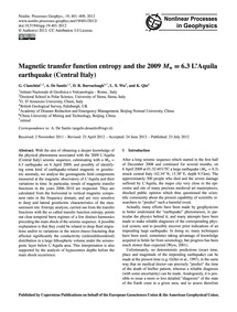 Magnetic Transfer Function Entropy and t... by Cianchini, G.