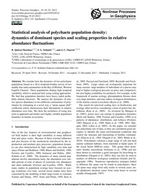 Statistical Analysis of Polychaete Popul... by Quiroz-martinez, B.