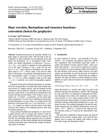Haar Wavelets, Fluctuations and Structur... by Lovejoy, S.
