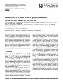 Predictability of Extreme Values in Geop... by Sterk, A. E.