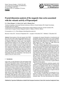 Fractal Dimension Analysis of the Magnet... by Flores-marquez, E. L.