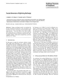 Fractal Dimension of Lightning Discharge... by Sañudo, J.