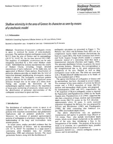 Shallow Seismicity in the Area of Greece... by Polimenakos, L. C.