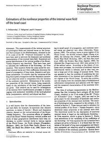 Estimations of the Nonlinear Properties ... by Pelinovksy, E.