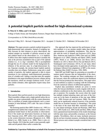 A Potential Implicit Particle Method for... by Weir, B.