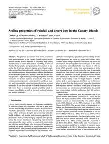 Scaling Properties of Rainfall and Deser... by Peñate, I.