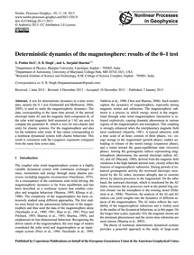 Deterministic Dynamics of the Magnetosph... by Prabin Devi, S.