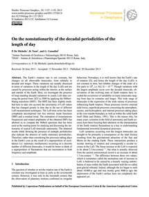 On the Nonstationarity of the Decadal Pe... by De Michelis, P.