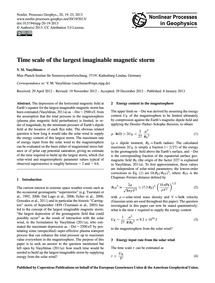 Time Scale of the Largest Imaginable Mag... by Vasyliūnas, V. M.