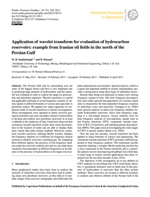 Application of Wavelet Transform for Eva... by Saadatinejad, M. R.