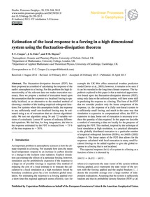 Estimation of the Local Response to a Fo... by Cooper, F. C.