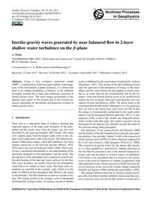 Inertia–gravity Waves Generated by Near ... by Wirth, A.