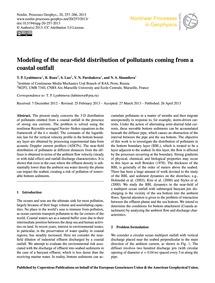 Modeling of the Near-field Distribution ... by Lyubimova, T. P.