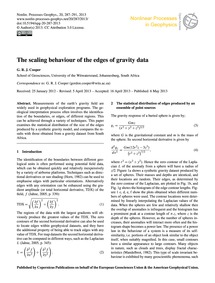 The Scaling Behaviour of the Edges of Gr... by Cooper, G. R. J.