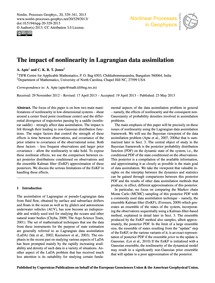 The Impact of Nonlinearity in Lagrangian... by Apte, A.