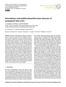 Intermittency and Multifractional Browni... by Consolini, G.