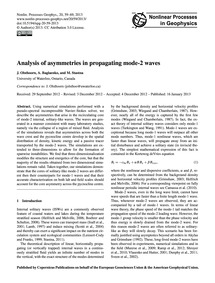 Analysis of Asymmetries in Propagating M... by Olsthoorn, J.