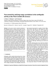 Non-extensivity and Long-range Correlati... by Michas, G.