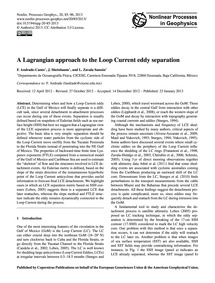 A Lagrangian Approach to the Loop Curren... by Andrade-canto, F.