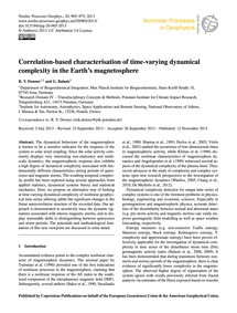 Correlation-based Characterisation of Ti... by Donner, R. V.