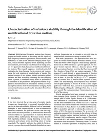 Characterization of Turbulence Stability... by Lee, K. C.