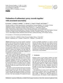 Estimation of Sedimentary Proxy Records ... by Goswami, B.