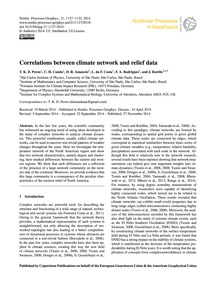 Correlations Between Climate Network and... by Peron, T. K. D.