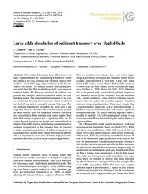 Large Eddy Simulation of Sediment Transp... by Harris, J. C.