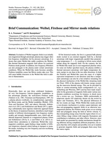 Brief Communication: Weibel, Firehose an... by Treumann, R. A.