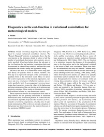 Diagnostics on the Cost-function in Vari... by Michel, Y.